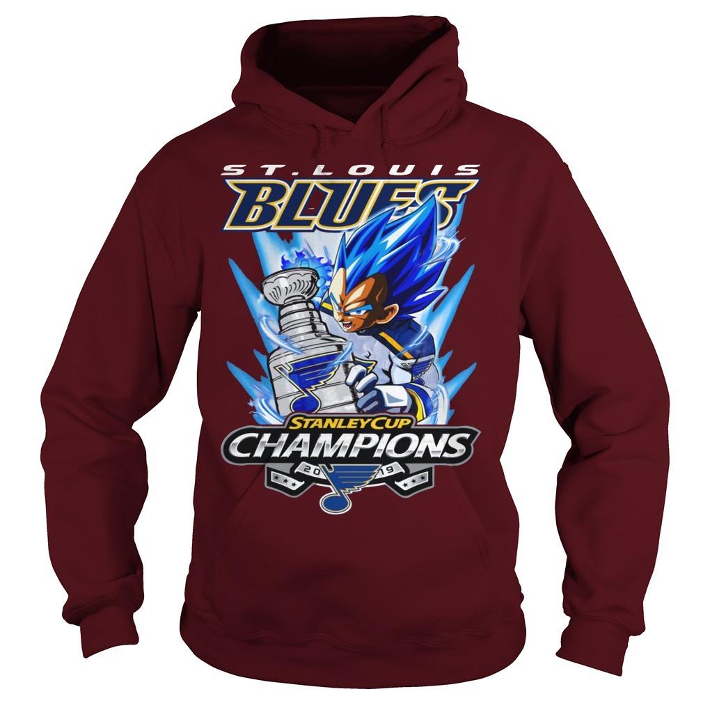 St Louis Blue Vegeta Stanley Cup Champions Hoodie