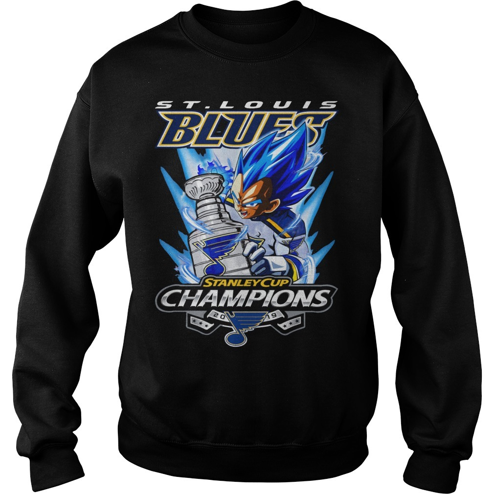 St Louis Blue Vegeta Stanley Cup Champions Sweater