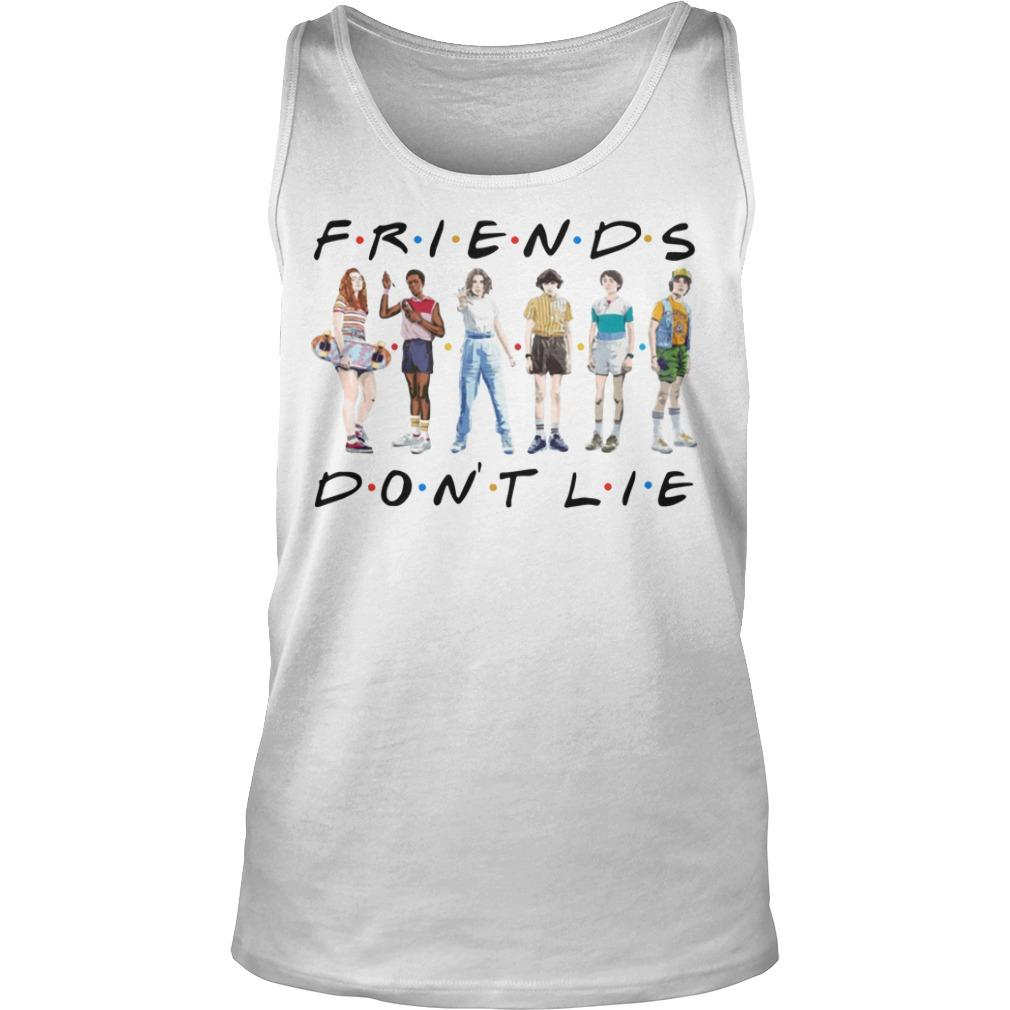Stranger Things 3 Friends Don't Lie Tank Top