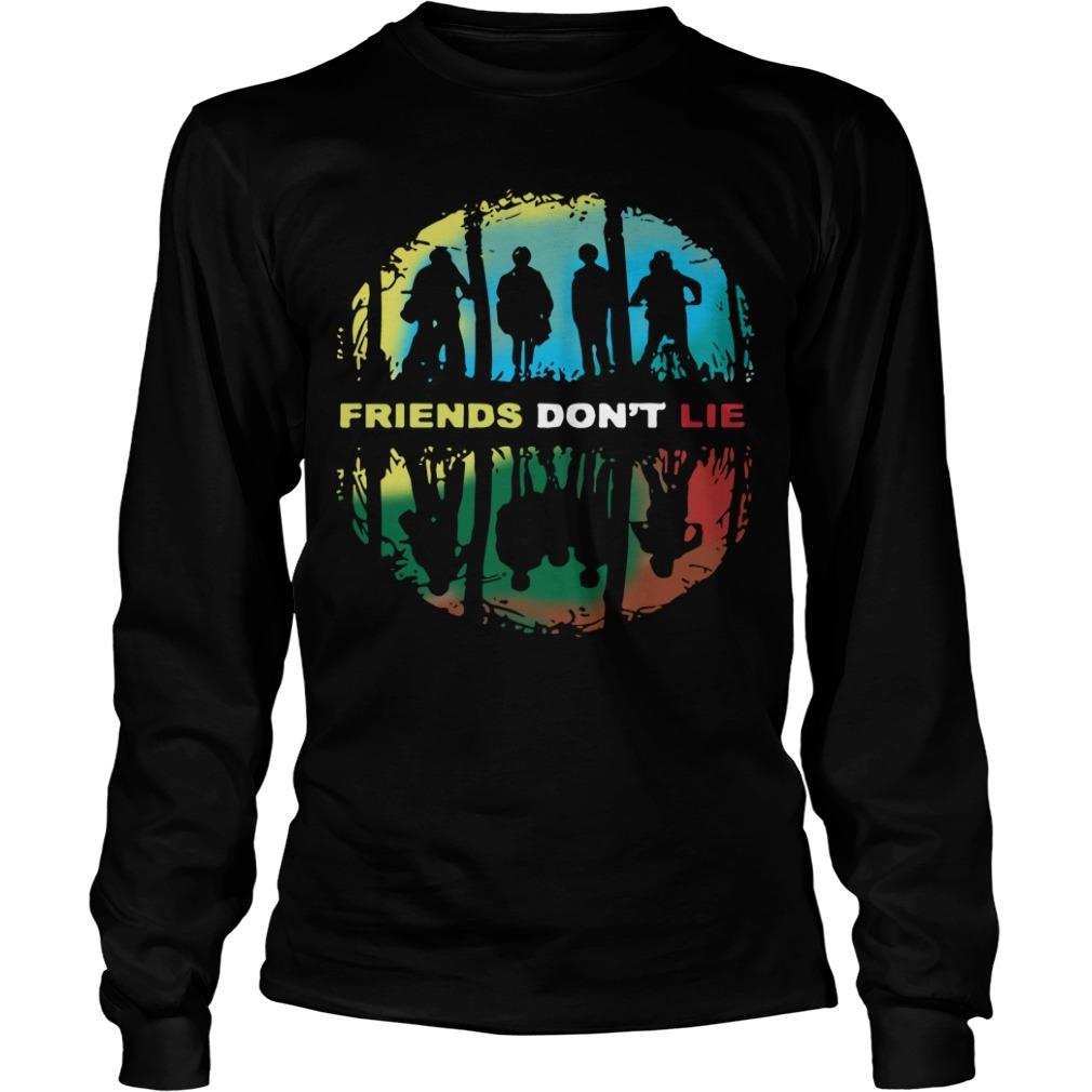 Stranger Things Friends Don't Lie Longsleeve