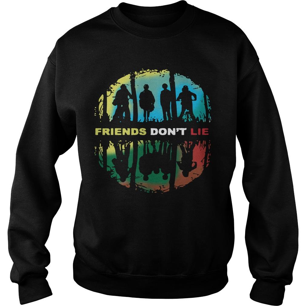 Stranger Things Friends Don't Lie Sweater