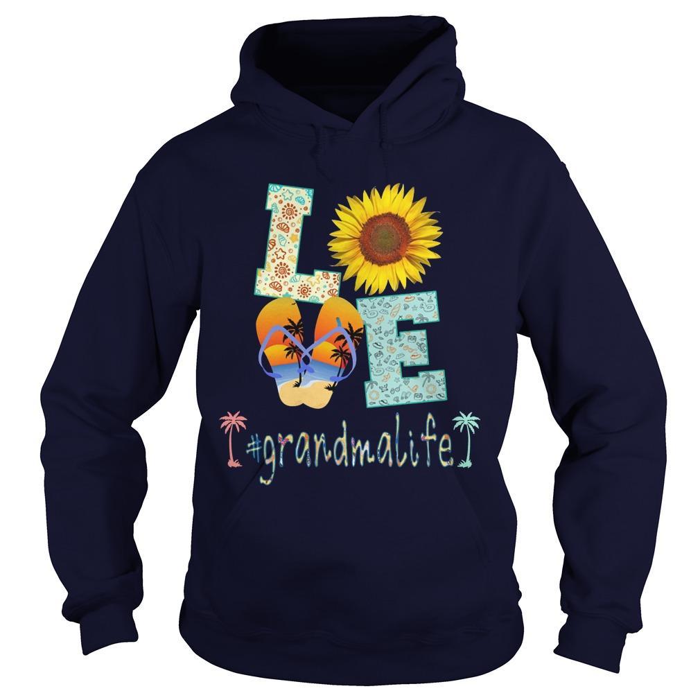 Sunflower Beach Love #grandmalife Hoodie