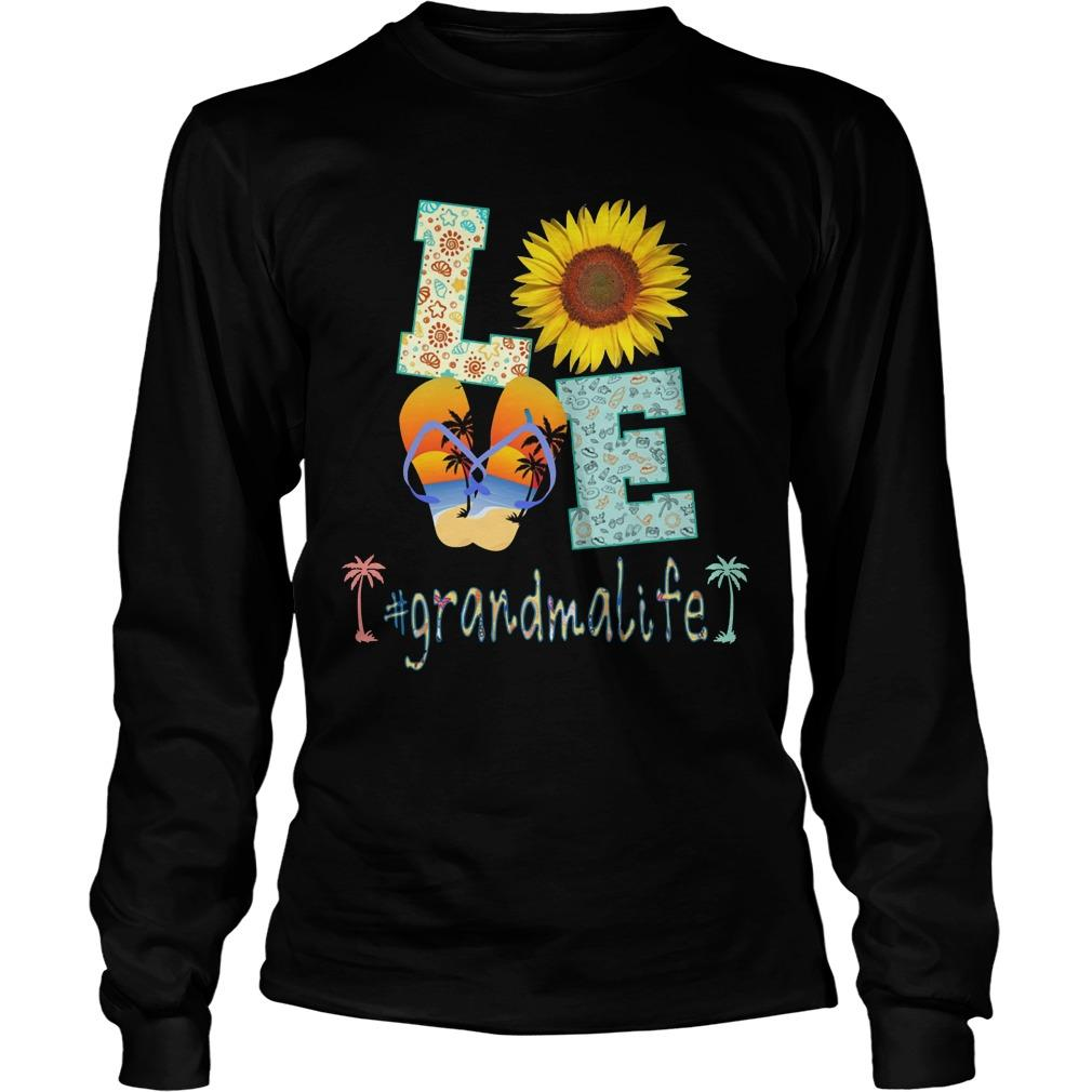 Sunflower Beach Love #grandmalife Longsleeve