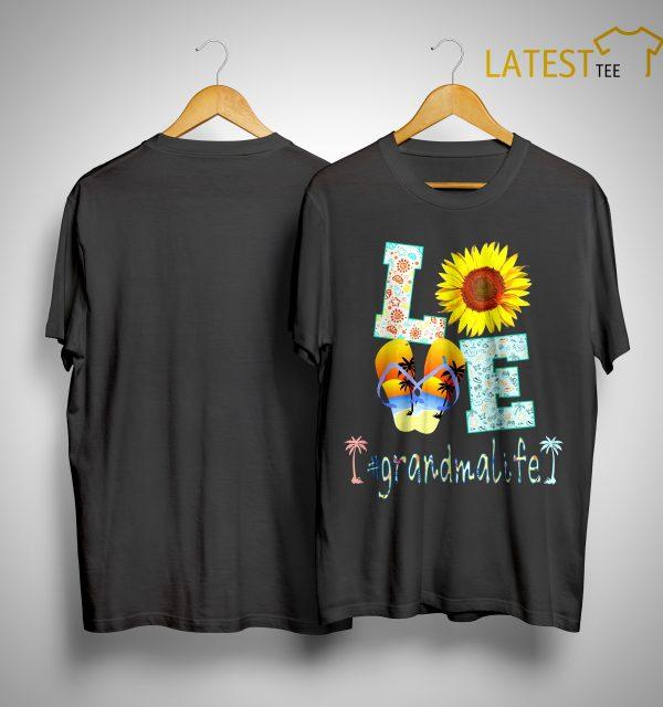 Sunflower Beach Love #grandmalife Shirt