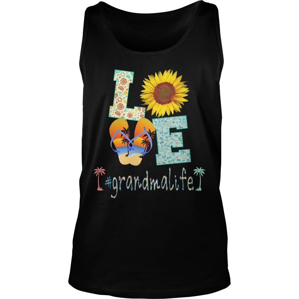 Sunflower Beach Love #grandmalife Tank Top