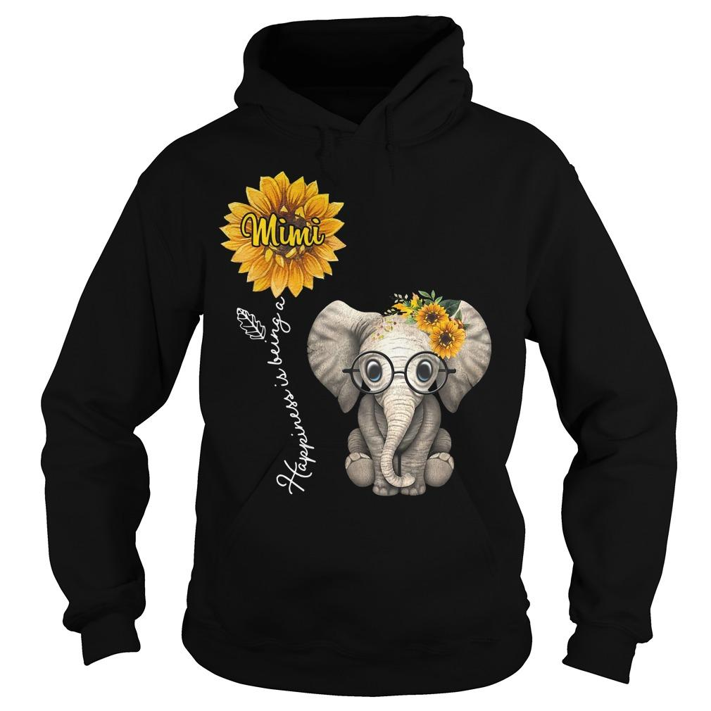 Sunflower Elephant Happiness Is Being A Mimi Hoodie
