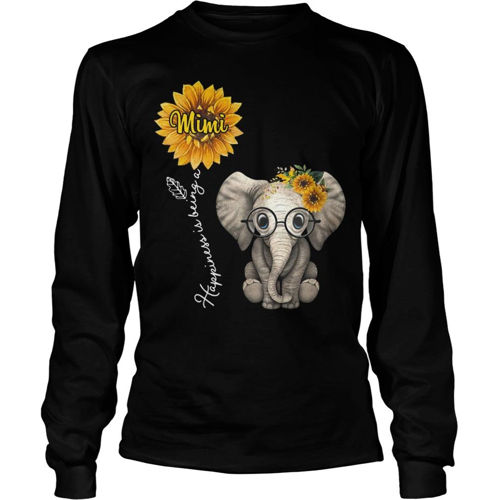 Sunflower Elephant Happiness Is Being A Mimi Longsleeve