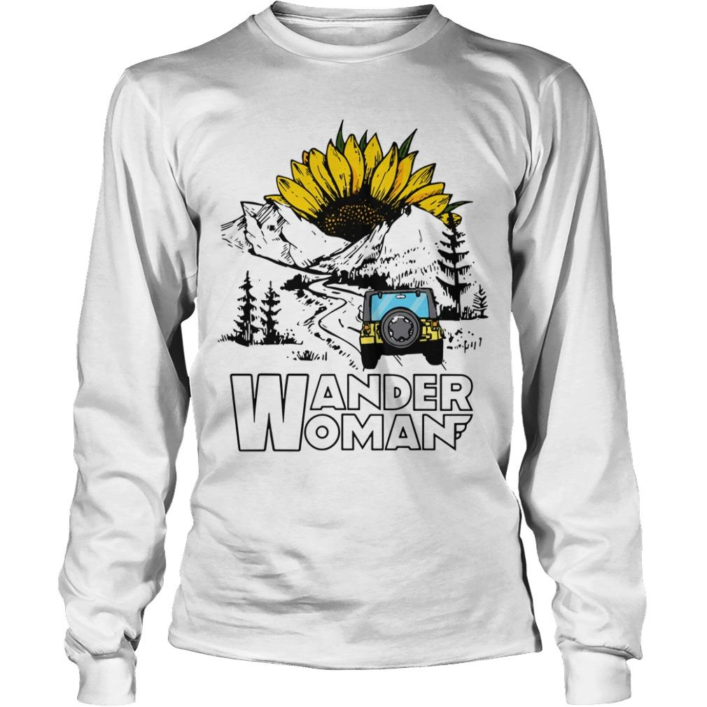 Sunflower Jeep Wander Woman Longsleeve