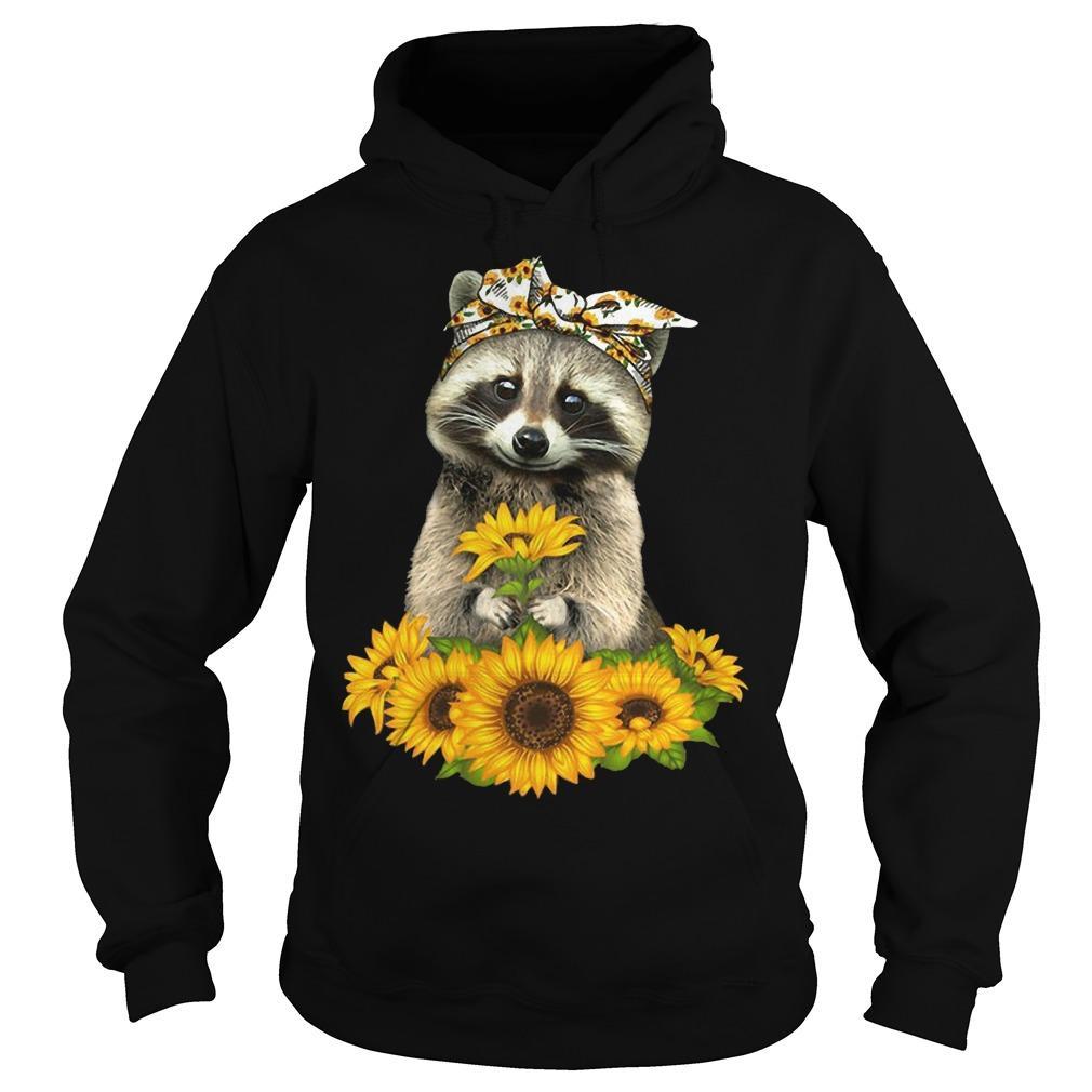 Sunflower Raccoon Hoodie
