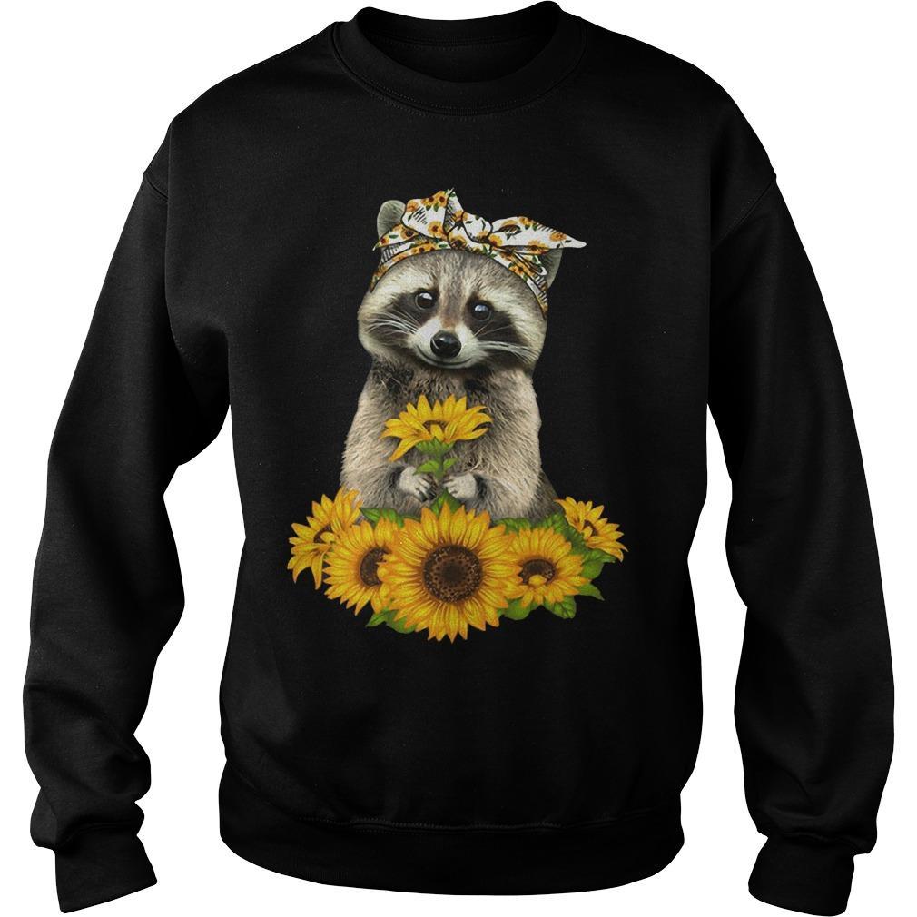 Sunflower Raccoon Sweater