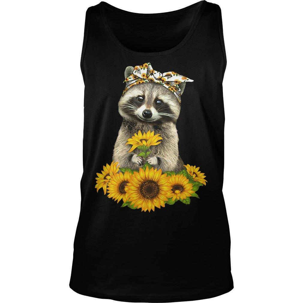Sunflower Raccoon Tank Top