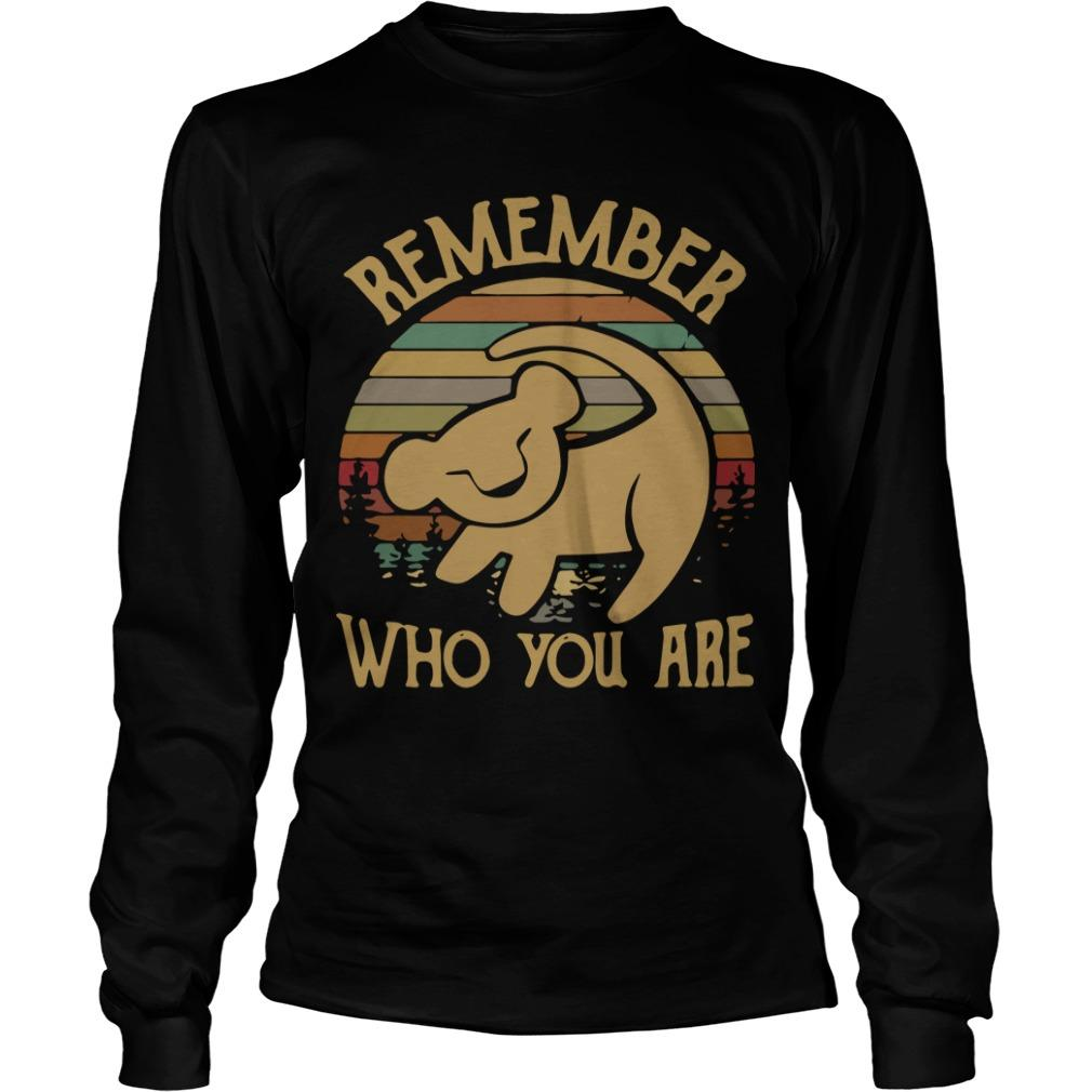Sunset Disney Lion King Remember Who You Are Longsleeve
