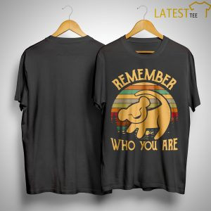 Sunset Disney Lion King Remember Who You Are Shirt