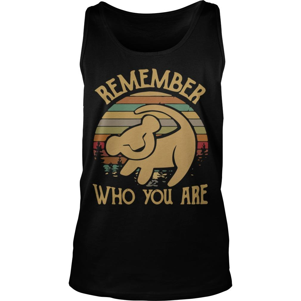 Sunset Disney Lion King Remember Who You Are Tank Top