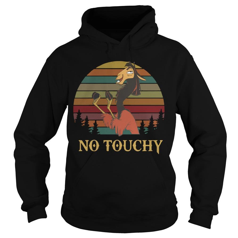 Sunset Vintage Groove Kuzco Llama No Touchy Hoodie