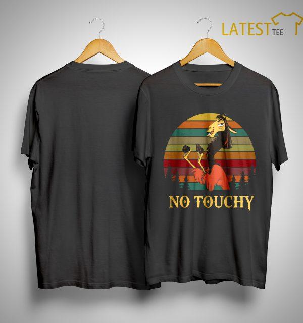 Sunset Vintage Groove Kuzco Llama No Touchy Shirt