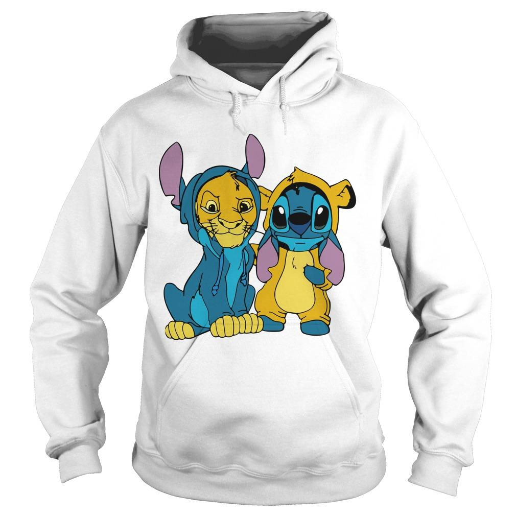 The Lion King Baby Stitch And Simba Hoodie