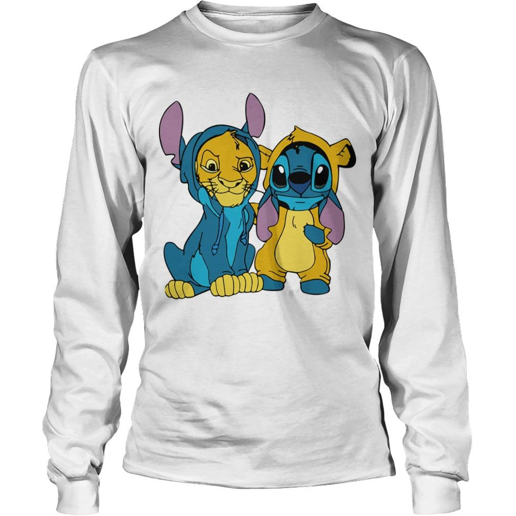 The Lion King Baby Stitch And Simba Longsleeve