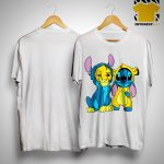 The Lion King Baby Stitch And Simba Shirt