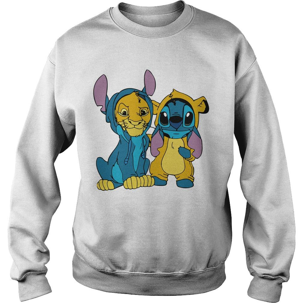 The Lion King Baby Stitch And Simba Sweater
