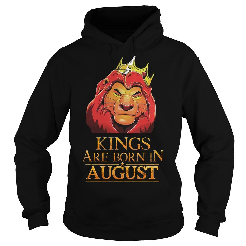The Lion King Kings Are Born In August Hoodie