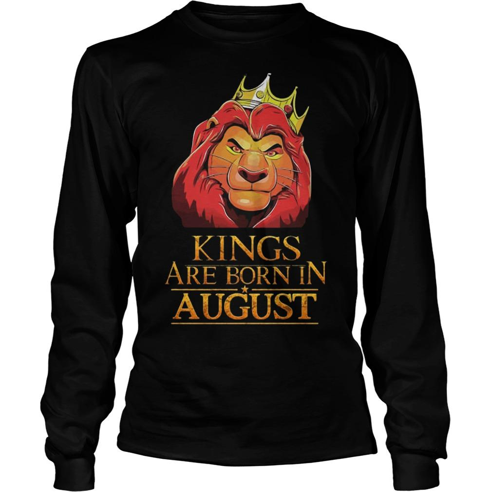 The Lion King Kings Are Born In August Longsleeve