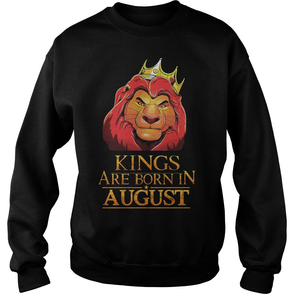 The Lion King Kings Are Born In August Sweater
