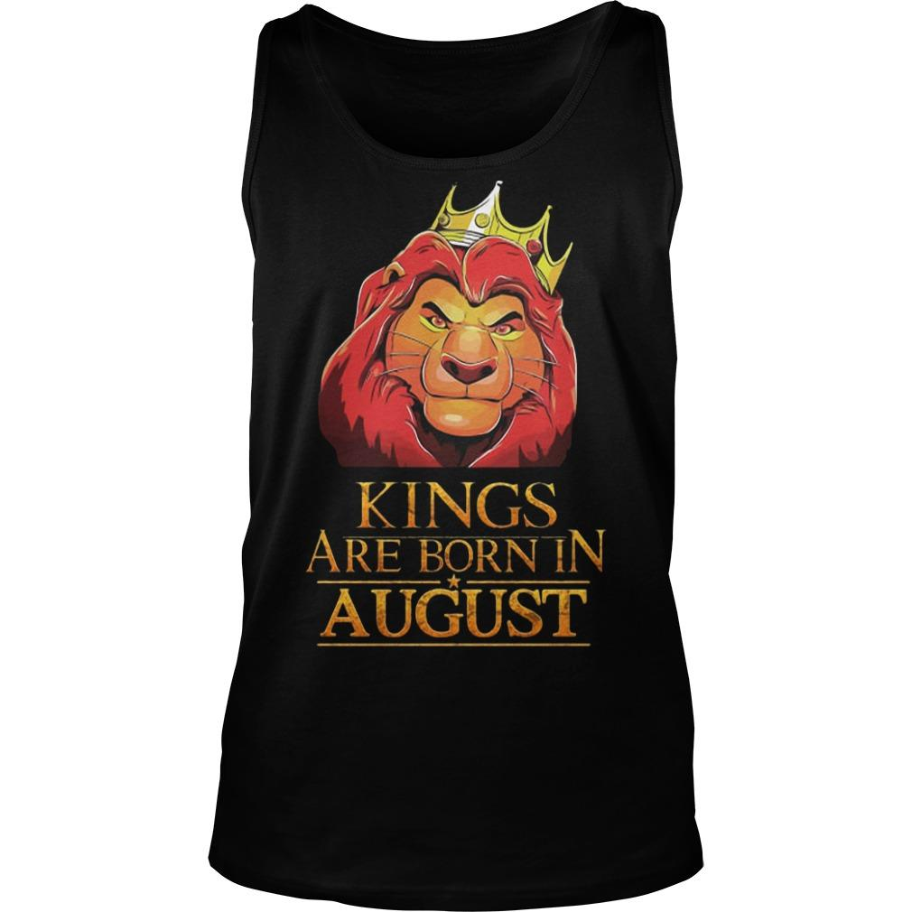 The Lion King Kings Are Born In August Tank Top