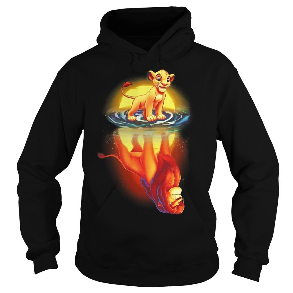 The Lion King Mufasa In Simba's Reflection Hoodie