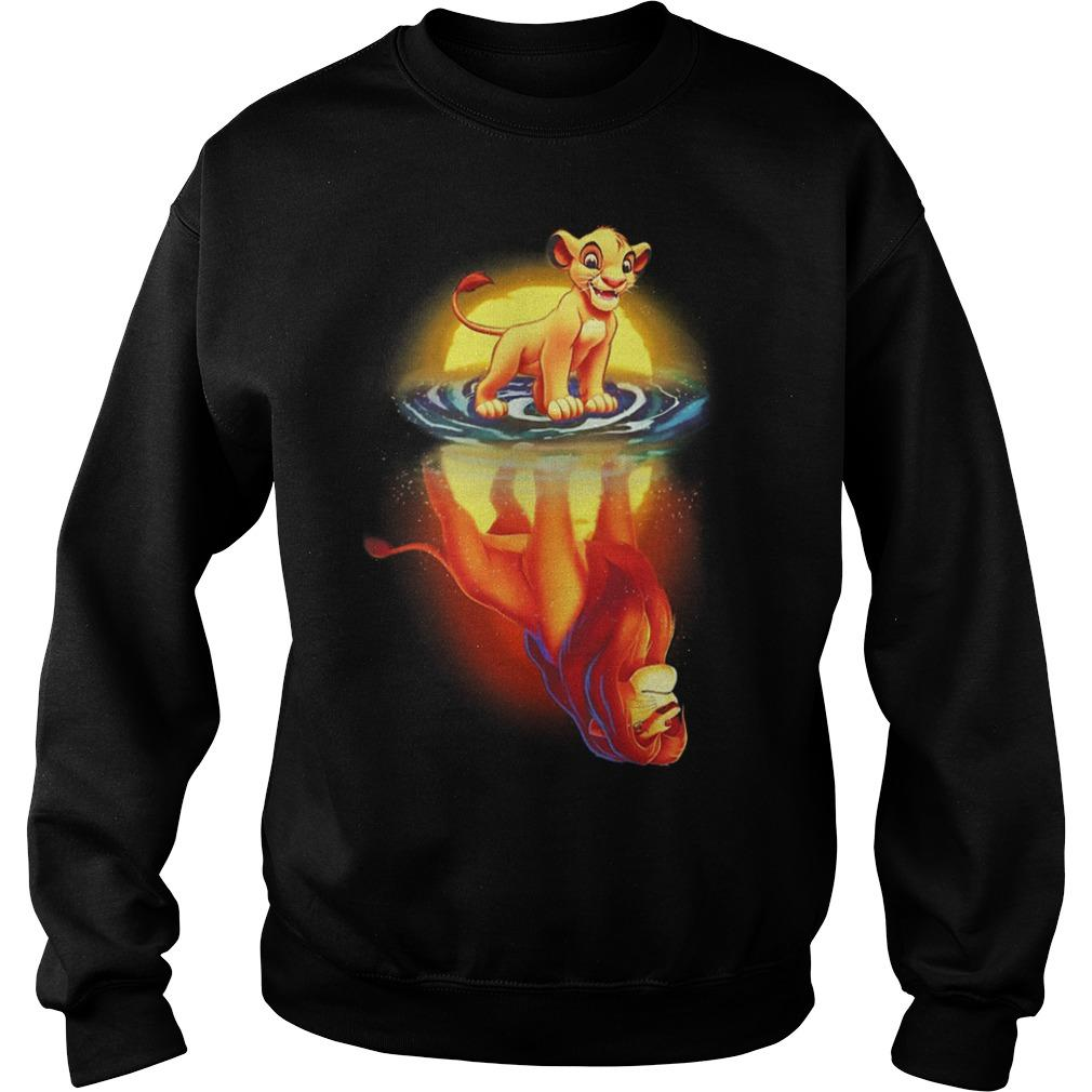 The Lion King Mufasa In Simba's Reflection Sweater