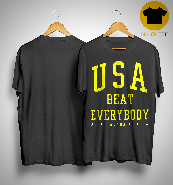 promo code 1885d 7e513 USA Beat Everybody USWNT Shirt