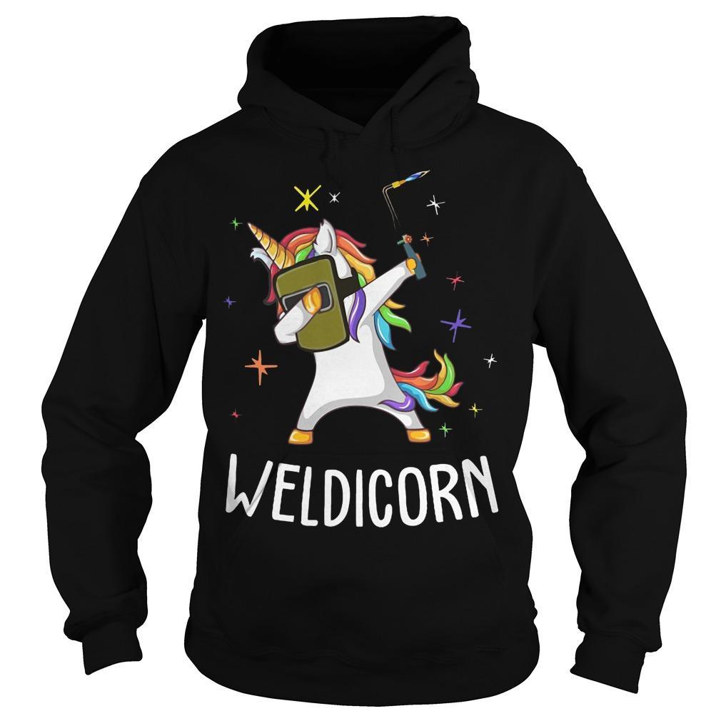 Unicorn Dabbing Weldicorn Hoodie