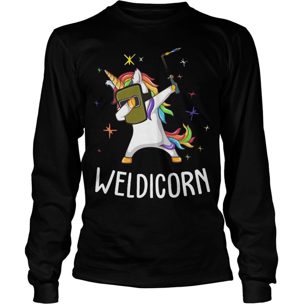 Unicorn Dabbing Weldicorn Longsleeve