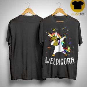 Unicorn Dabbing Weldicorn Shirt