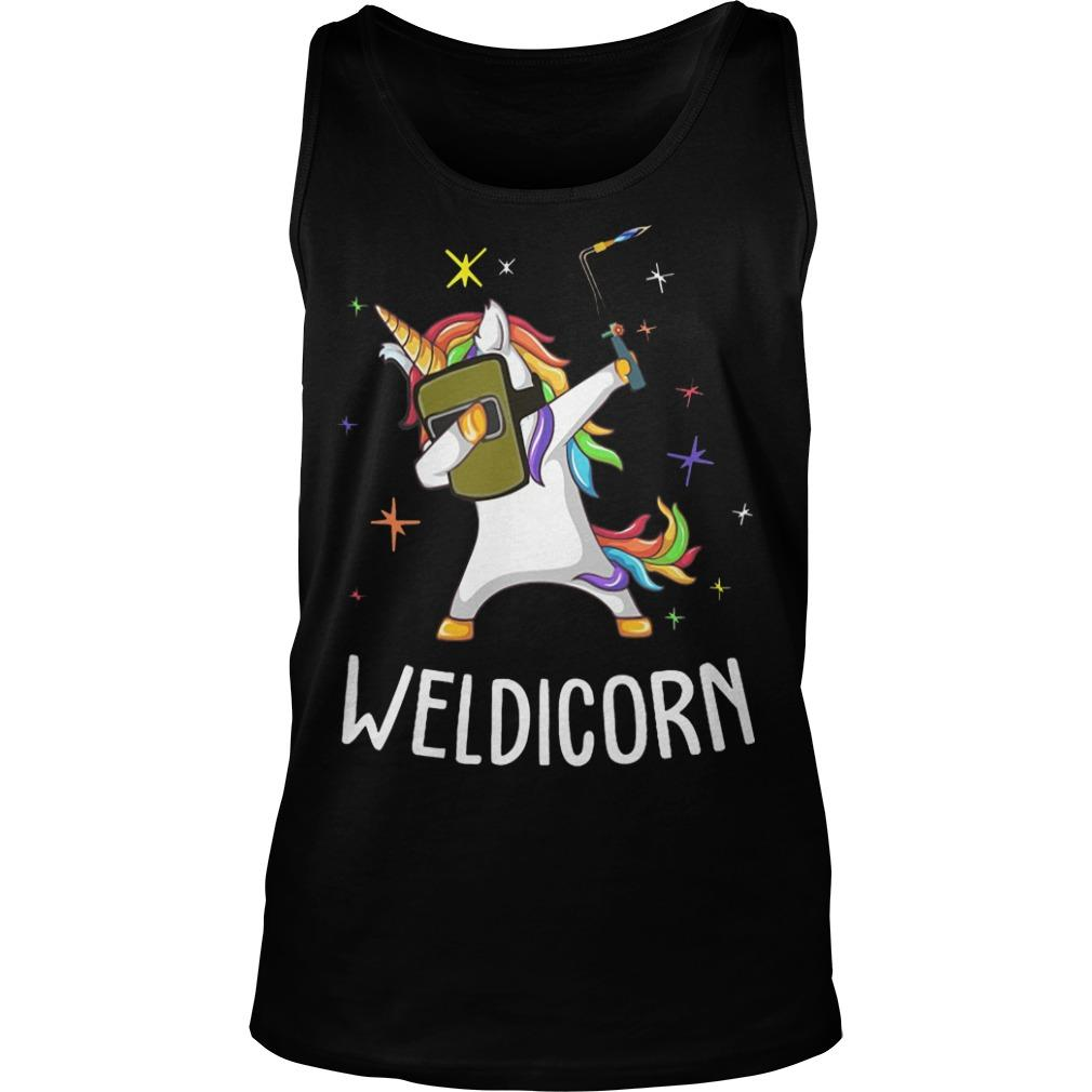 Unicorn Dabbing Weldicorn Tank Top