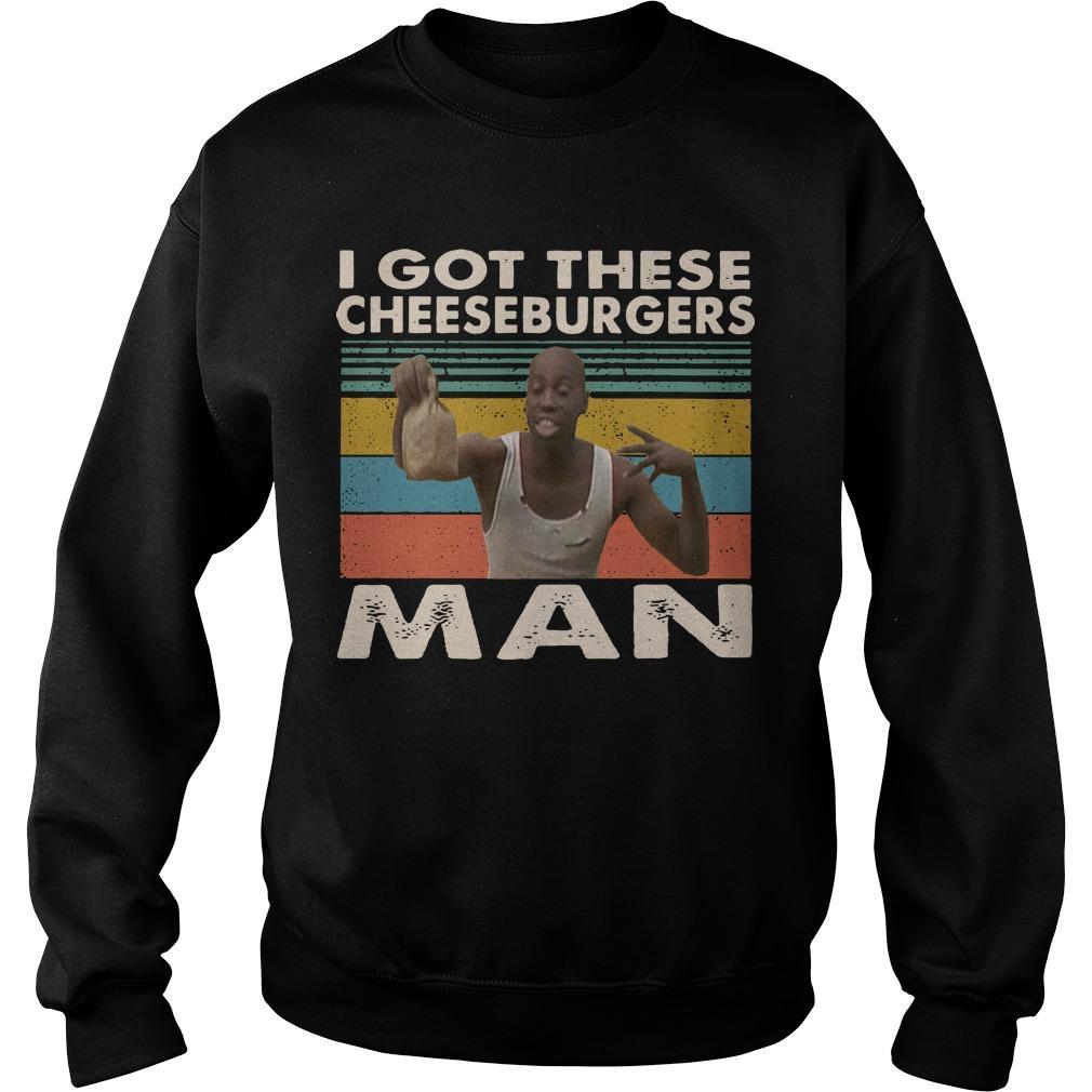 Vintage Black Man I Got These Cheeseburgers Man Sweater