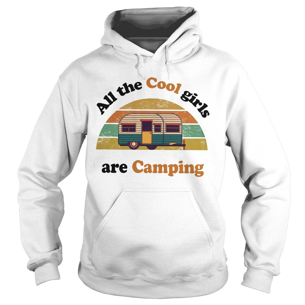 Vintage Bus All The Cool Girls Are Camping Hoodie