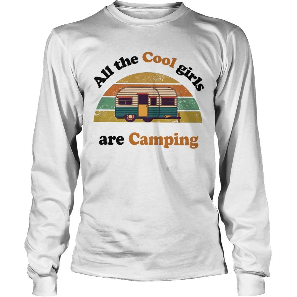 Vintage Bus All The Cool Girls Are Camping Longsleeve