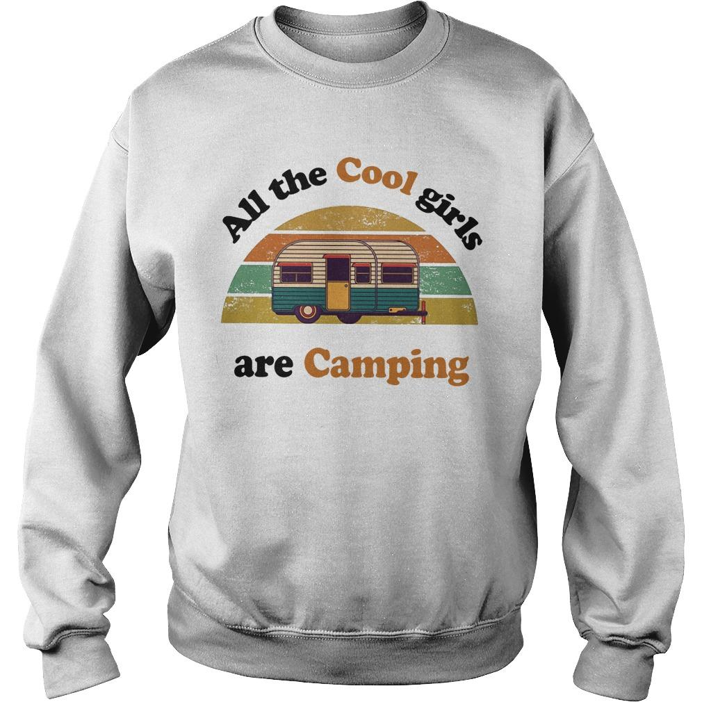 Vintage Bus All The Cool Girls Are Camping Sweater
