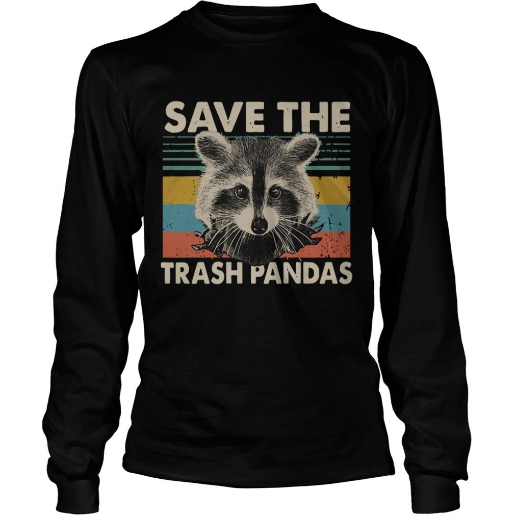 Vintage Raccoon Save The Trash Pandas Longsleeve