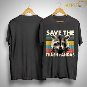 Vintage Raccoon Save The Trash Pandas Shirt