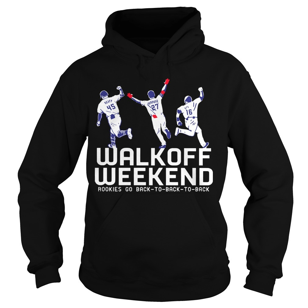 Walk Off Weekend Rookies Go Back To Back To Back Hoodie