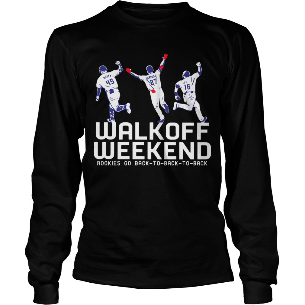 Walk Off Weekend Rookies Go Back To Back To Back Longsleeve Tee