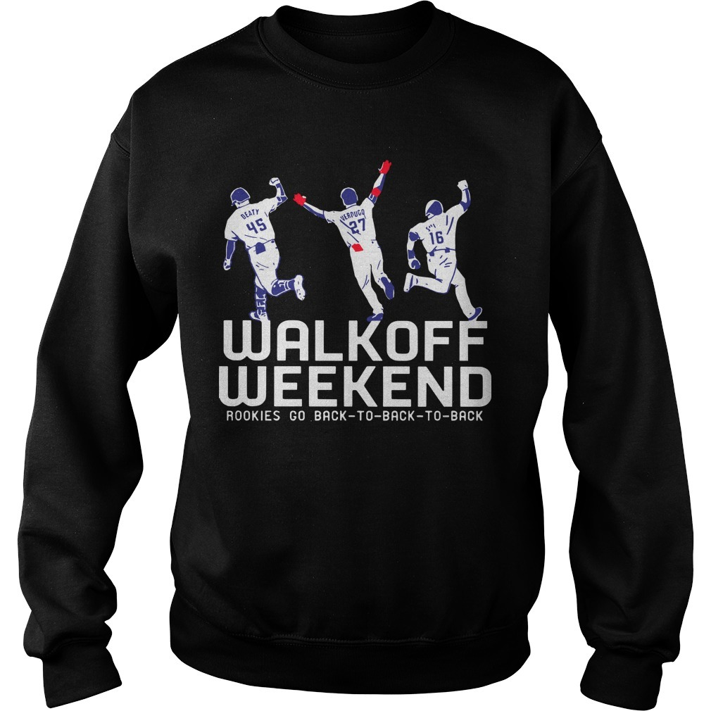 Walk Off Weekend Rookies Go Back To Back To Back Sweater