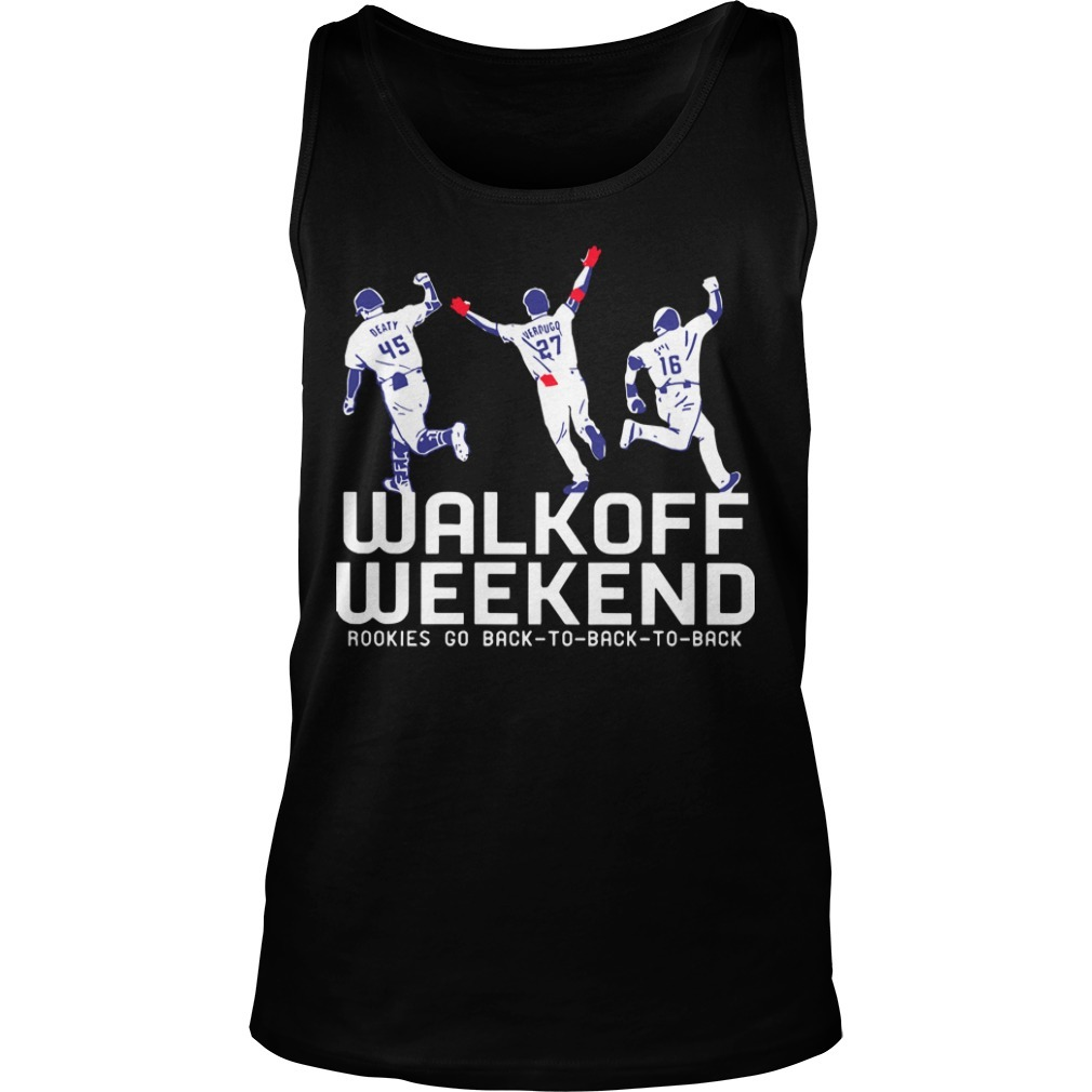 Walk Off Weekend Rookies Go Back To Back To Back Tank Top