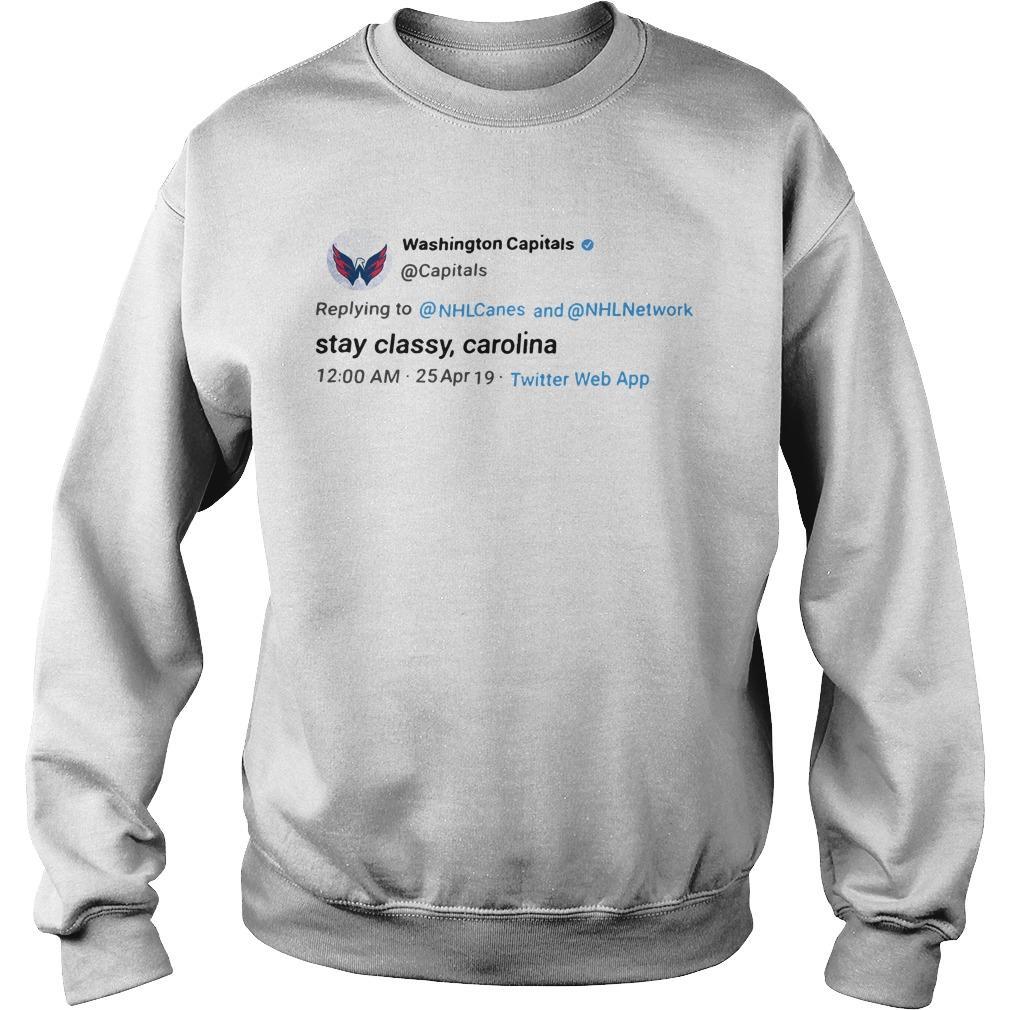 Washington Capitals Stay Classy Carolina Sweater