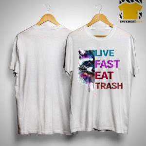 Water Color Raccoon Live Fast Eat Trash Shirt
