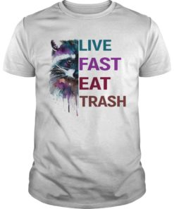 Water Color Raccoon Live Fast Eat Trash