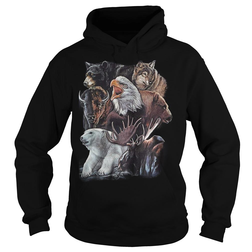 Wild Alaskan Collage Hoodie