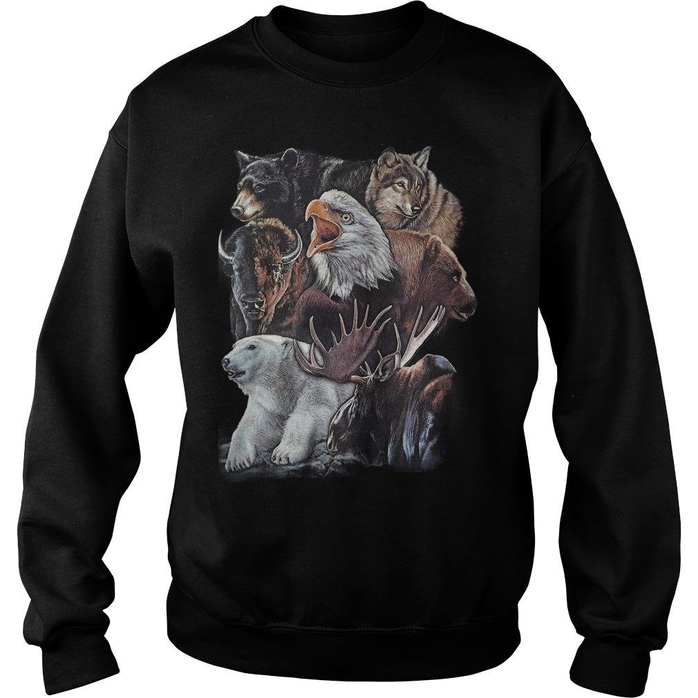 Wild Alaskan Collage Sweater